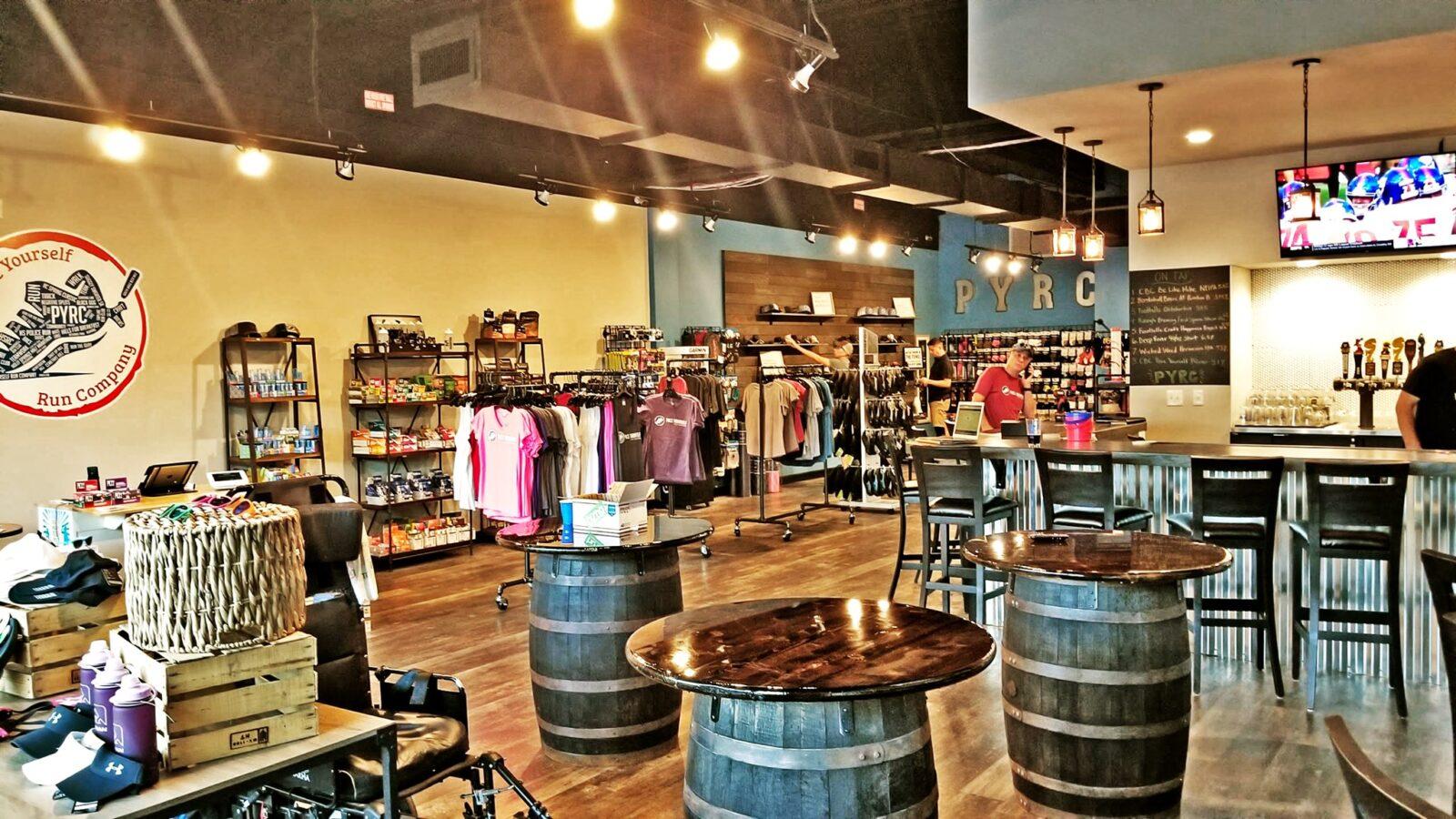 running store inside